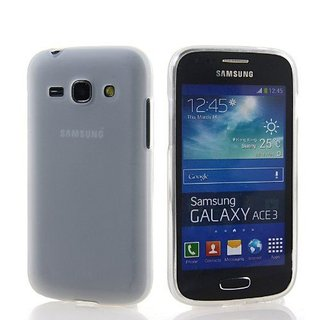Samsung Galaxy Ace 3 siliconen (gel) achterkant hoesje - Transparant