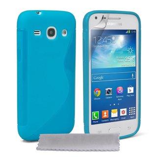 Samsung Galaxy Core Plus siliconen S-line (gel) achterkant hoesje - Blauw