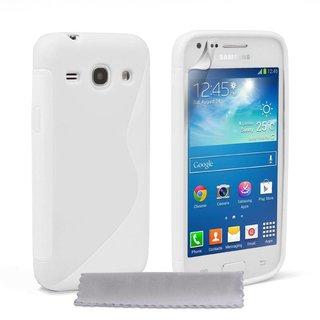 Samsung Galaxy Core Plus siliconen S-line (gel) achterkant hoesje - Wit