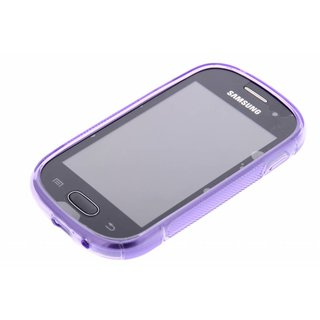 Samsung Galaxy Fame Lite siliconen S-line (gel) achterkant hoesje - Paars