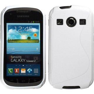Samsung Galaxy Xcover 2 siliconen S-line (gel) achterkant hoesje - Wit