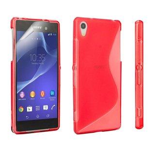 Sony Xperia Z2 siliconen S-line (gel) achterkant hoesje - Rood