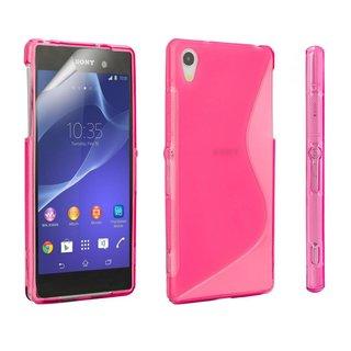 Sony Xperia Z2 siliconen S-line (gel) achterkant hoesje - Roze