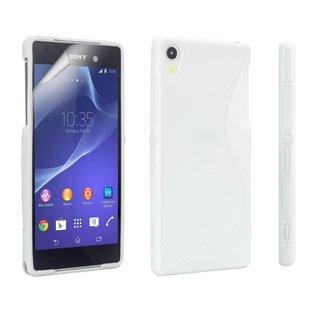 Sony Xperia Z2 siliconen S-line (gel) achterkant hoesje - Wit