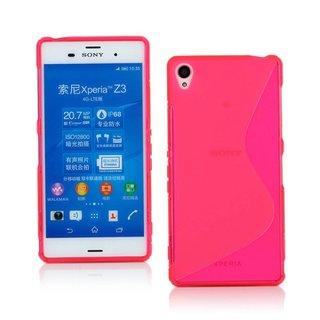 Sony Xperia Z3 siliconen S-line (gel) achterkant hoesje - Roze