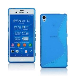 Sony Xperia Z3 siliconen S-line (gel) achterkant hoesje - Blauw