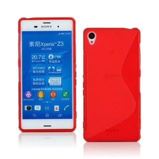 Sony Xperia Z3 siliconen S-line (gel) achterkant hoesje - Rood