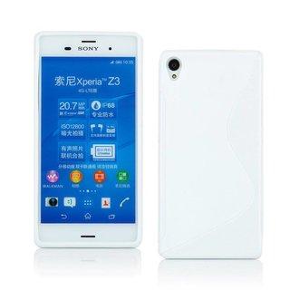 Sony Xperia Z3 siliconen S-line (gel) achterkant hoesje - Wit