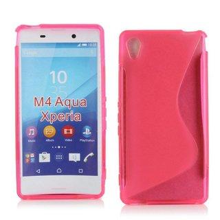 Sony Xperia M4 Aqua siliconen S-line (gel) achterkant hoesje - Roze