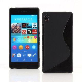 Sony Xperia Z4 siliconen S-line (gel) achterkant hoesje - Zwart