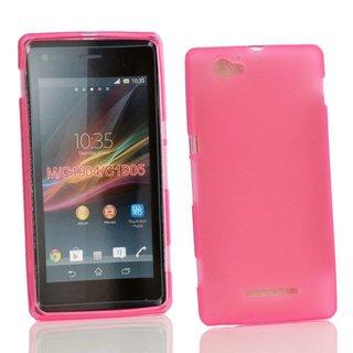 Sony Xperia M siliconen  (gel) achterkant hoesje - Roze