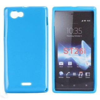 Sony Xperia J (ST26I) siliconen (gel) achterkant hoesje - Blauw