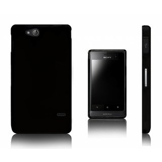 Sony Xperia Go (ST271i) siliconen (gel) achterkant hoesje - Zwart