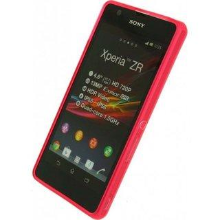 Sony Xperia ZR (M36H) siliconen (gel) achterkant hoesje - Roze