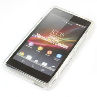 Sony Xperia ZR (M36H) siliconen (gel) achterkant hoesje - Transparant