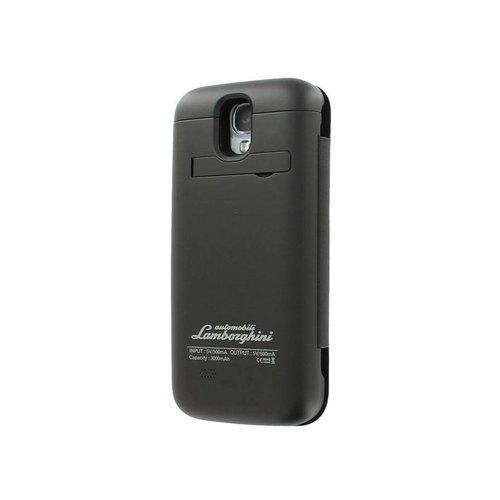 Automobili Lamborghini Batterycase hoesje met accu voor de Samsung Galaxy S4 - Zwart / Wit
