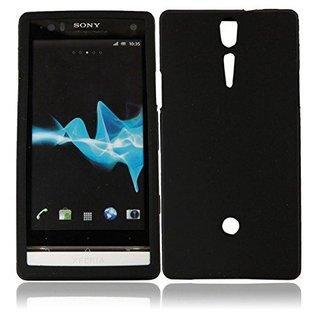 Sony Xperia S (LT26i) siliconen (gel) achterkant hoesje - Zwart