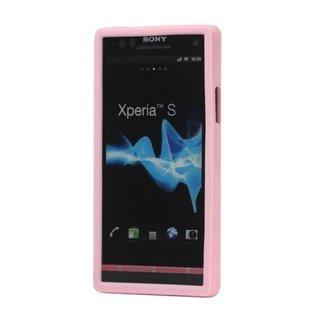 Sony Xperia S (LT26i) siliconen (gel) achterkant hoesje - Roze