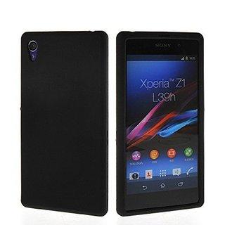 Sony Xperia Z1 siliconen (gel) achterkant hoesje - Zwart