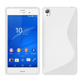 Sony Xperia Z3 Compact siliconen S-line (gel) achterkant hoesje - Wit