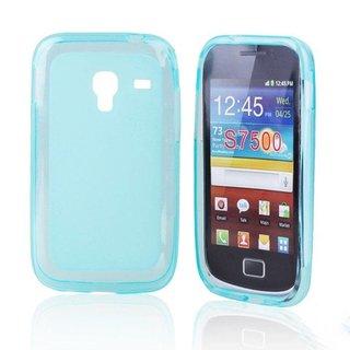Samsung Galaxy Ace Plus siliconen (gel) achterkant hoesje - Blauw