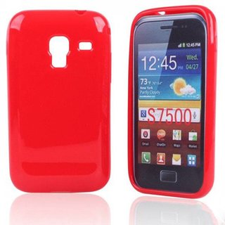 Samsung Galaxy Ace Plus siliconen (gel) achterkant hoesje - Rood