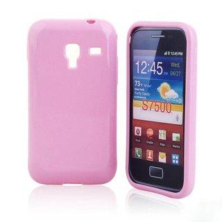 Samsung Galaxy Ace Plus siliconen (gel) achterkant hoesje - Roze