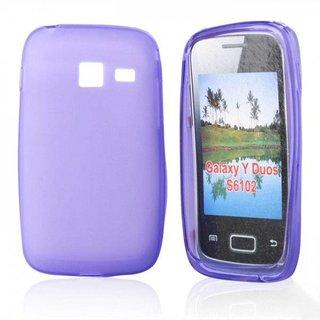 Samsung Galaxy Y Duos siliconen (gel) achterkant hoesje - Paars
