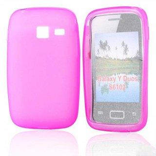 Samsung Galaxy Y Duos siliconen (gel) achterkant hoesje - Roze