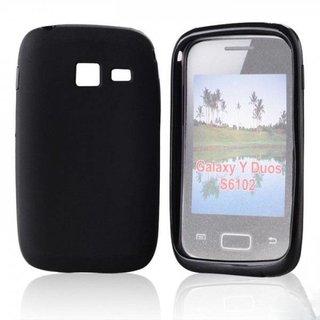 Samsung Galaxy Y Duos siliconen (gel) achterkant hoesje - Zwart