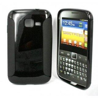 Samsung Galaxy Y Pro siliconen (gel) achterkant hoesje - Zwart