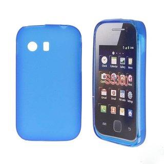 Samsung Galaxy Y siliconen (gel) achterkant hoesje - Blauw