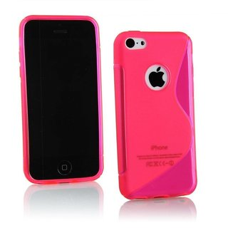Apple iPhone 5G/5S siliconen S-line (gel) achterkant hoesje - Roze
