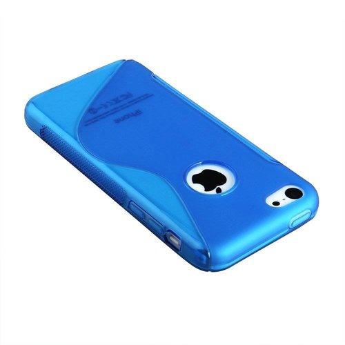 Apple iPhone 5G/5S siliconen S-line (gel) achterkant hoesje - Blauw