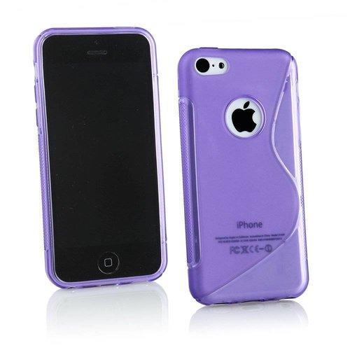 Apple iPhone 5G/5S siliconen S-line (gel) achterkant hoesje - Paars