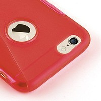 Apple iPhone 6 / 6S siliconen S-line (gel) achterkant hoesje - Rood