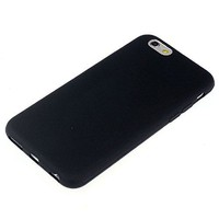 Apple iPhone 6 / 6S siliconen (gel) achterkant hoesje - Zwart