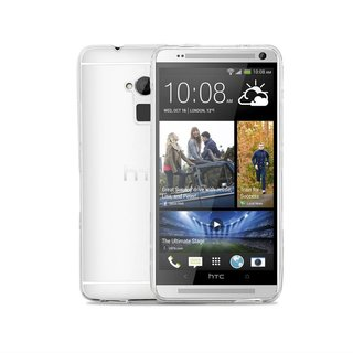 HTC One Max siliconen (gel) achterkant hoesje - Transparant