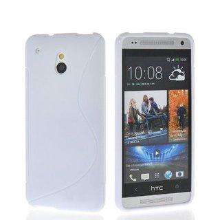 HTC One M4 Mini siliconen S-line (gel) achterkant hoesje - Wit
