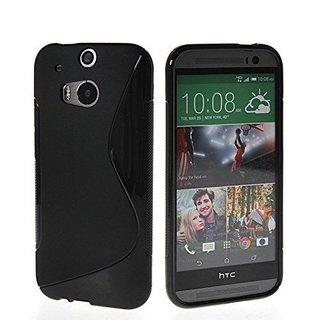 HTC One (M8) siliconen S-line (gel) achterkant hoesje - Zwart