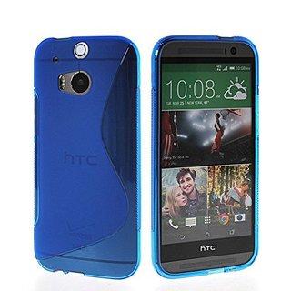 HTC One (M8) siliconen S-line (gel) achterkant hoesje - Blauw