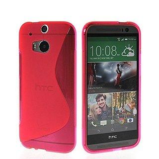 HTC One (M8) siliconen S-line (gel) achterkant hoesje - Roze