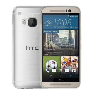 HTC One M9 siliconen (gel) achterkant hoesje - Transparant