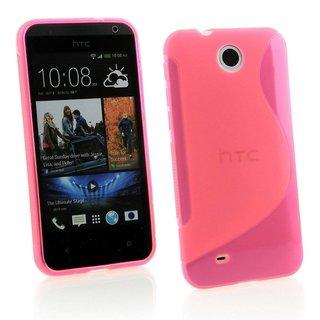 HTC Desire 300 siliconen S-line (gel) achterkant hoesje - Roze
