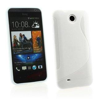 HTC Desire 300 siliconen S-line (gel) achterkant hoesje - Wit