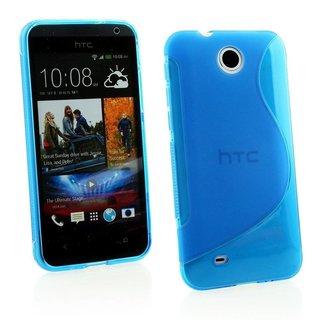 HTC Desire 300 siliconen S-line (gel) achterkant hoesje - Blauw