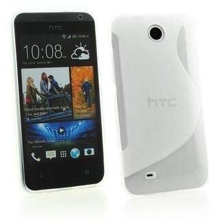 HTC Desire 300 siliconen S-line (gel) achterkant hoesje - Transparant