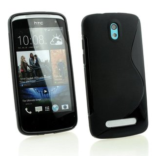 HTC Desire 500 siliconen S-line (gel) achterkant hoesje - Zwart