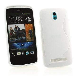 HTC Desire 500 siliconen S-line (gel) achterkant hoesje - Wit