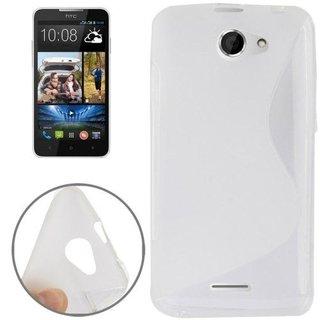 HTC Desire 516 siliconen S-line (gel) achterkant hoesje - Transparant